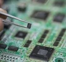 Montagem de placa circuito impresso componente smd